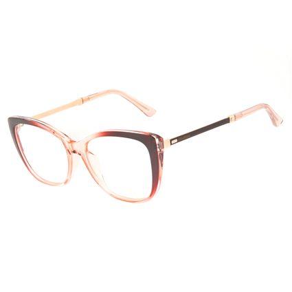 Armação Para Óculos de Grau Feminino Chilli Beans Cat Cristal Vinho LV.IJ.0233-1717