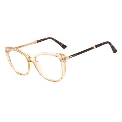 Armação Para Óculos de Grau Feminino Chilli Beans Cat Cristal Bege LV.IJ.0233-2302