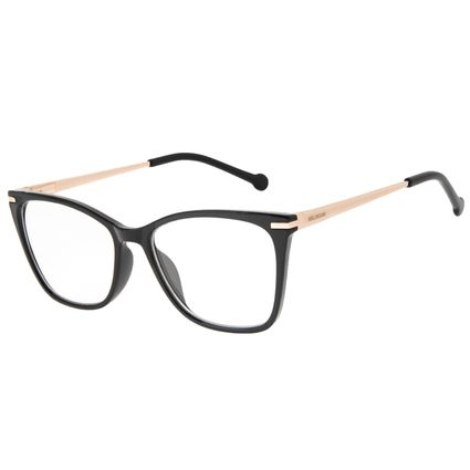 Armação Para Óculos de Grau Feminino Chilli Beans Cat Metal Preto LV.IJ.0236-0121