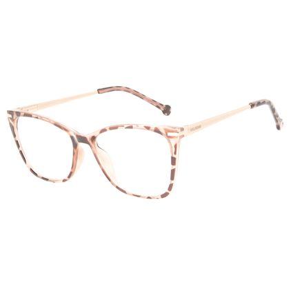Armação Para Óculos de Grau Feminino Chilli Beans Cat Metal Tartaruga LV.IJ.0236-0621