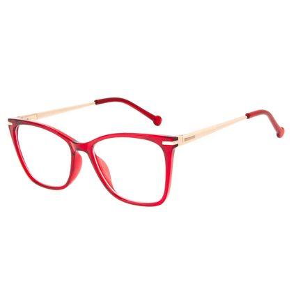 Armação Para Óculos de Grau Feminino Chilli Beans Cat Metal Vermelho LV.IJ.0236-1621