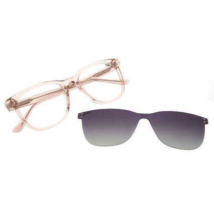 Armação Para Óculos de Grau Feminino Chilli Beans Multi 2 Em 1 Polarizado Bege LV.MU.0540-2023