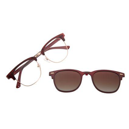 Armação Para Óculos de Grau Unissex Chil li Beans Multi Polarizado VinhoLV.MU.0545-5717