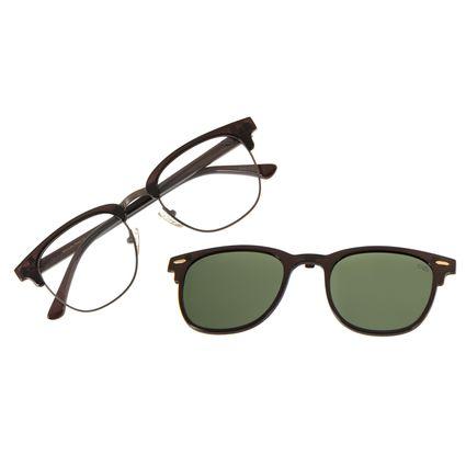 Armação Para Óculos de Grau Unissex Chilli Beans Multi Polarizado Marrom Escuro LV.MU.0545-1502
