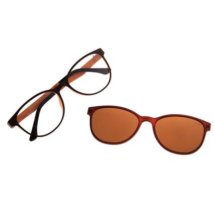 Armação Para Óculos de Grau Feminino Chilli Beans Multi Polarizado Marrom Escuro LV.MU.0547-0247