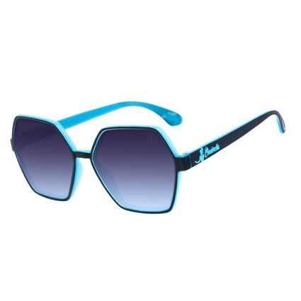 Óculos de Sol Feminino Teen Disney Princess Cinderela Quadrado Azul OC.KD.0708-0808