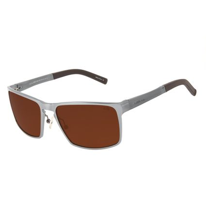 Óculos de Sol Masculino Chilli Beans Quadrado Marrom Polarizado OC.AL.0262-0222