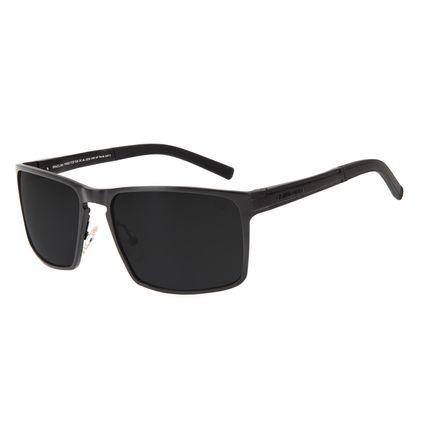 Óculos de Sol Masculino Chilli Beans Quadrado Preto Polarizado OC.AL.0262-0101