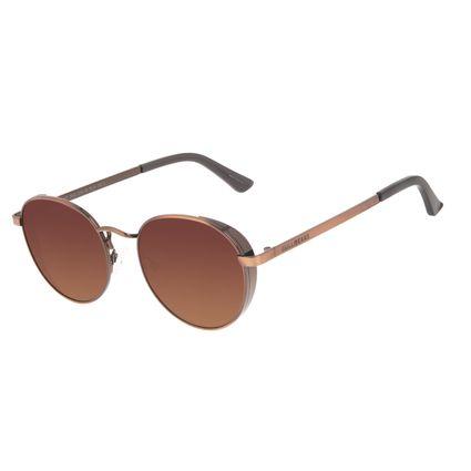 Óculos de Sol Unissex Chilli Beans Redondo Flap Degradê Marrom OC.MT.3042-5702