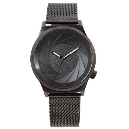 Relógio Analógico Feminino Chilli Beans Fashion Metal Escovado Ônix RE.MT.1109-2222