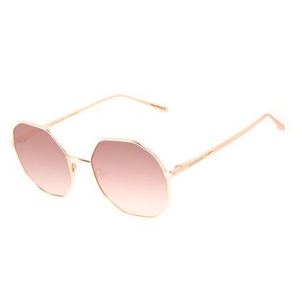Óculos de Sol Feminino Chilli Beans Redondo Facetado Banhado A Ouro Rosé OC.MT.3184-2095