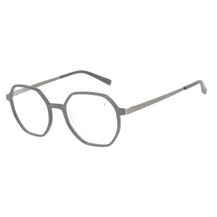 Armação Para Óculos de Grau Masculino Chilli Beans Redondo Facetado Ônix LV.IJ.0219-0122