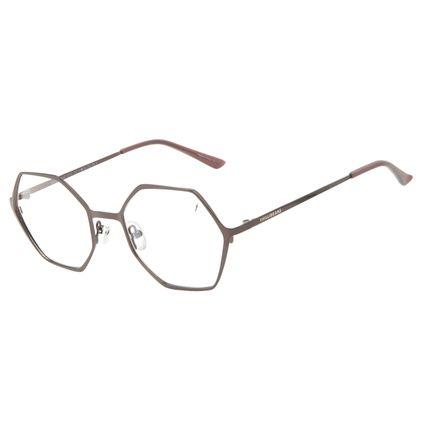 Armação Para Óculos de Grau Unissex Chilli Beans Hexagonal Metal Marrom LV.MT.0546-0202