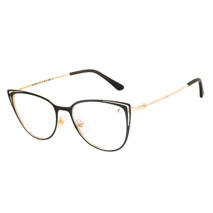 Armação Para Óculos de Grau Feminino Chilli Beans Cat Metal Brilho Dourado LV.MT.0548-2121