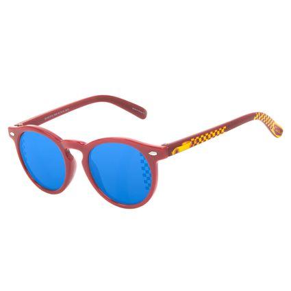 Óculos de Sol Infantil Disney Cars Redondo Vermelho OC.KD.0713-1608