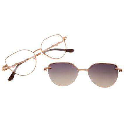 Armação Para Óculos de Grau Feminino Harry Potter Pomo de Ouro Multi Polarizado Marrom LV.MU.0649-5702
