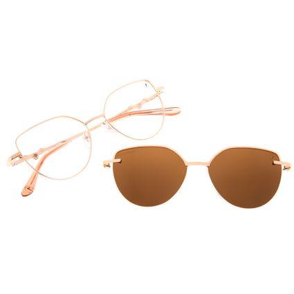 Armação Para Óculos de Grau Feminino Harry Potter Pomo de Ouro Multi Polarizado Rosé LV.MU.0649-0195