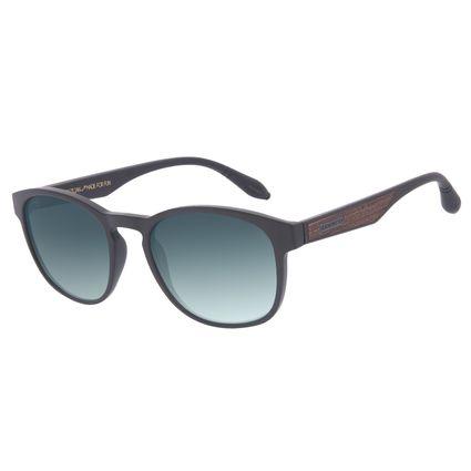 Óculos de Sol Masculino A.H Circus Bossa Nova Wood Degradê Verde OC.CL.3357-8202