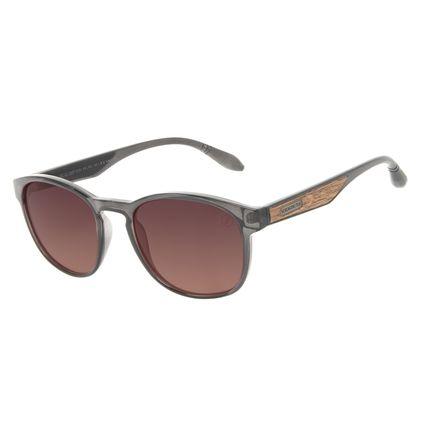 Óculos de Sol Masculino A.H Circus Bossa Nova Wood Degradê Marrom OC.CL.3357-5701