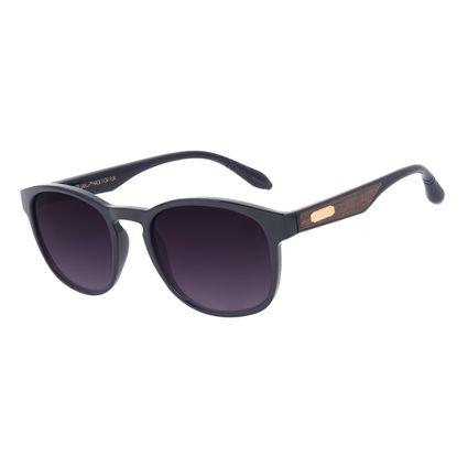 Óculos de Sol Masculino A.H Circus Bossa Nova Wood Degradê Preto OC.CL.3357-2001